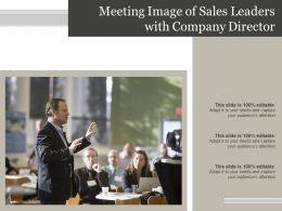 Meeting Image Of Sales Leaders With Company Director