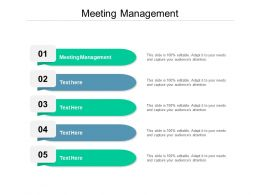 Meeting Management Ppt Powerpoint Presentation Visual Aids Cpb