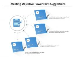 Meeting Objective Powerpoint Suggestions Infographic Template