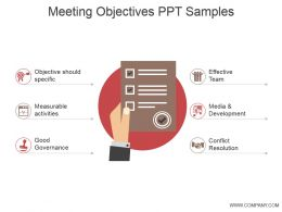 Meeting Objectives Ppt Samples