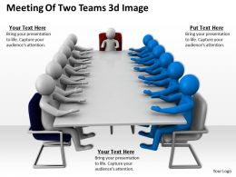 Meeting Of Two Teams 3d Image Ppt Graphics Icons Powerpoint