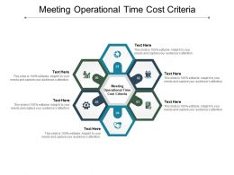 Meeting Operational Time Cost Criteria Ppt Powerpoint Presentation Icon Example Topics Cpb