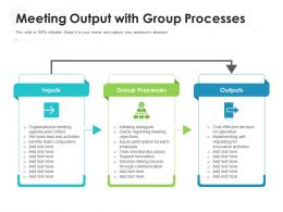 Meeting Output With Group Processes
