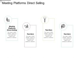 Meeting Platforms Direct Selling Ppt Powerpoint Presentation Gallery Styles Cpb