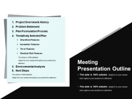 Meeting Presentation Outline Ppt Summary