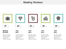 Meeting Reviews Ppt Powerpoint Presentation Summary Guidelines Cpb