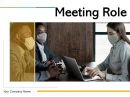 Meeting Role Responsibilities Business Elements Planning Communicate