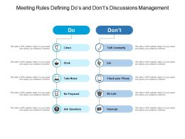 Meeting Rules Defining Dos And Donts Discussions Management