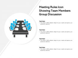 Meeting Rules Icon Showing Team Members Group Discussion