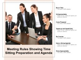 Meeting Rules Showing Time Sitting Preparation And Agenda