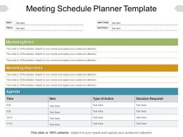 Meeting Schedule Planner Template Ppt Example File