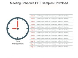 Meeting Schedule Ppt Samples Download