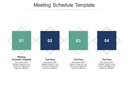 Meeting Schedule Template Ppt Powerpoint Presentation Icon Graphics Example Cpb