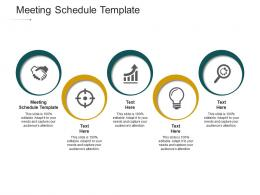 Meeting Schedule Template Ppt Powerpoint Presentation Summary Guide Cpb