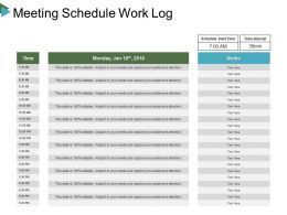 Meeting Schedule Work Log Ppt Ideas