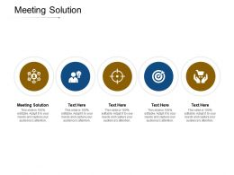 Meeting Solution Ppt Powerpoint Presentation File Template Cpb