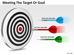 meeting the target or goal