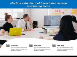Meeting With Client At Advertising Agency Discussing Ideas