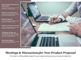 Meetings And Discussions For New Product Proposal