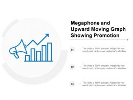 Megaphone And Upward Moving Graph Showing Promotion