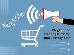 Megaphone Creating Buzz For Black Friday Sale