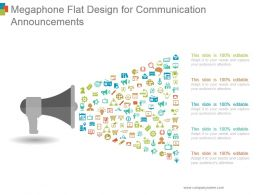 Megaphone Flat Design For Communication Announcements Ppt Examples Slides