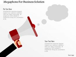 Megaphone For Business Solution Flat Powerpoint Design