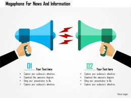 Megaphone For News And Information Flat Powerpoint Design