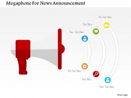 Megaphone For News Announcement Flat Powerpoint Design