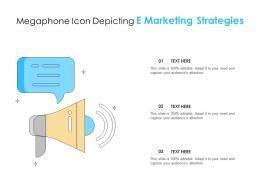 Megaphone Icon Depicting E Marketing Strategies