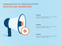 Megaphone Icon Depicting Online Healthcare Marketing