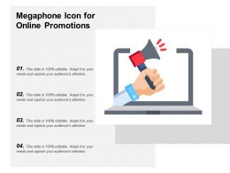 Megaphone Icon For Online Promotions