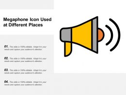 Megaphone Icon Used At Different Places