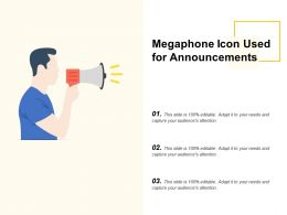 Megaphone Icon Used For Announcements