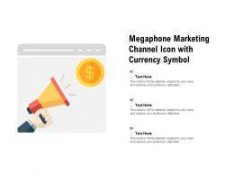 Megaphone Marketing Channel Icon With Currency Symbol