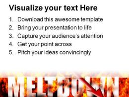 Meltdown Business PowerPoint Template 1110  Presentation Themes and Graphics Slide03