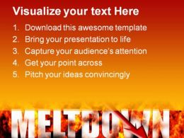 Meltdown Business PowerPoint Template 1110  Presentation Themes and Graphics Slide02