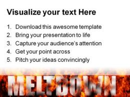 Meltdown Global PowerPoint Template 0810  Presentation Themes and Graphics Slide03