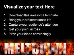 Meltdown Global PowerPoint Template 0810  Presentation Themes and Graphics Slide02