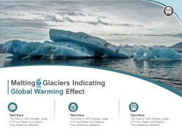 Melting Glaciers Indicating Global Warming Effect