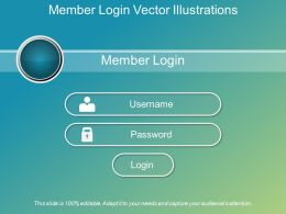 Member Login Vector Illustrations