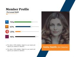 Member Profile Powerpoint Slide Deck Samples
