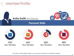 Member Profile Powerpoint Slide Template