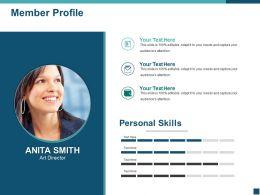 Member Profile Ppt Background Image