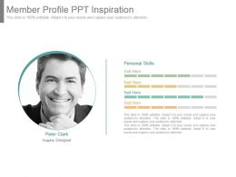 Member Profile Ppt Inspiration