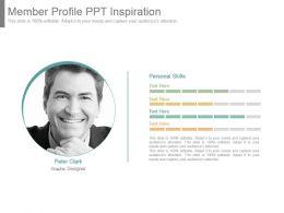 Member Profile Ppt Inspiration