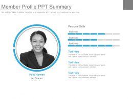 Member Profile Ppt Summary
