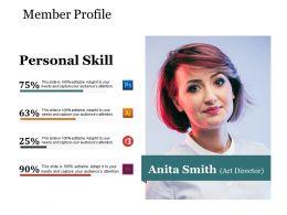 Member Profile Presentation Powerpoint Templates