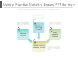 Member Retention Marketing Strategy Ppt Summary