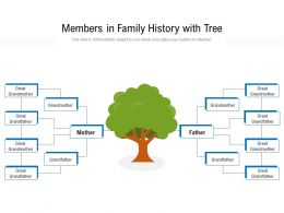 Members In Family History With Tree